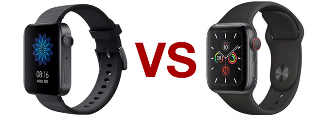Mi Watch vs Apple Watch